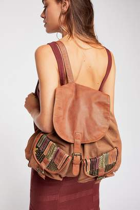 N. Cut Paste School's Out Leather Backpack