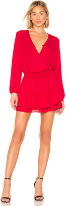 Krisa Smocked Surplice Mini Dress