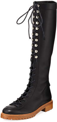 Gabriela Hearst Juan Knee-High Combat Boots