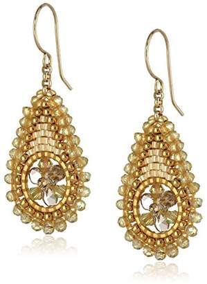 Miguel Ases Topaz Hydro Quartz and Swarovski Delicate Teardrop Earrings