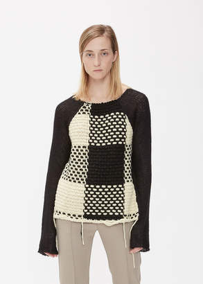 MM6 MAISON MARGIELA Long Sleeve Mixed Yarn Sweater