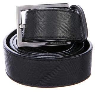 Burberry Smoke Check Leather Belt