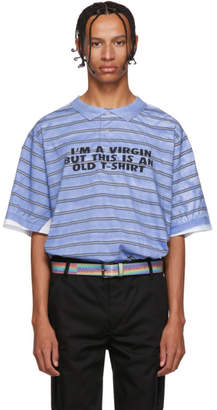 Vetements Blue and Red Virgin T-Shirt