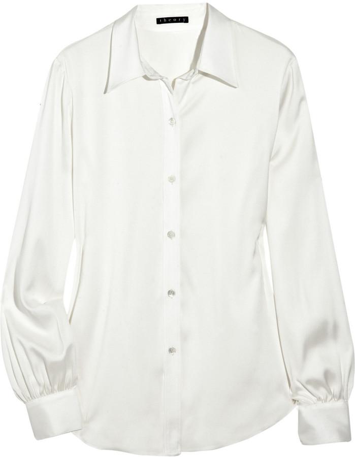 Theory Rendy stretch-silk shirt
