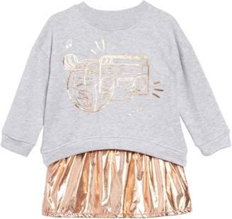 Kenzo Metallic Graphic Sweatshirt & Dress Set