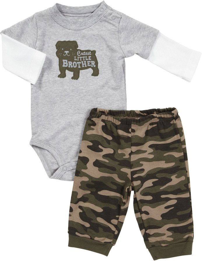 Carter's L/S Camo Bodysuit Set - Heather-18 Months