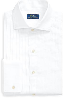 Ralph Lauren Slim Fit Linen Tuxedo Shirt