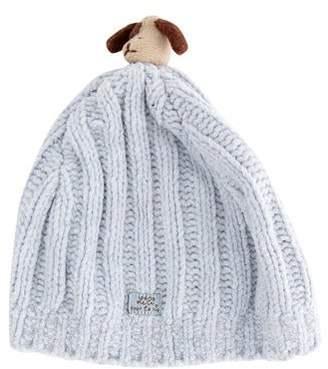 Lili Gaufrette Boys' Knit Pom-Pom Beanie
