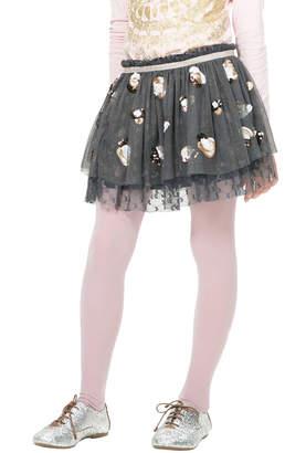 Desigual Granollers Girl Coal Color Skirt