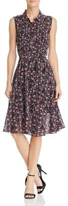 Nanette Lepore nanette Sleeveless Floral Print Shirt Dress