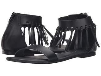 Matteo Massimo Ankle Strap Fringe Sandal Women's Sandals