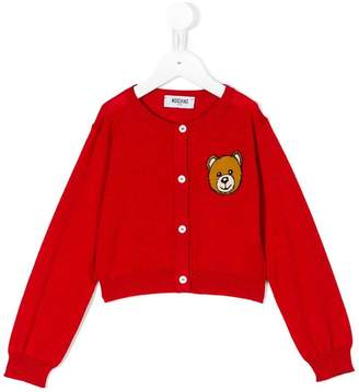 Moschino Kids teddy bear cardigan