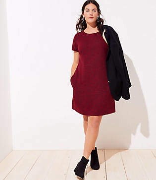 LOFT Plus Tie Back Pocket Dress