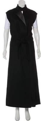 Les Copains Longline Virgin Wool Vest