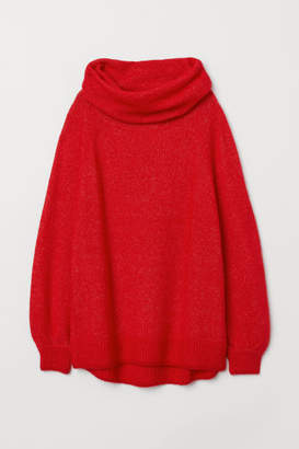 H&M Oversized Cowl-neck Sweater - Red