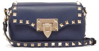 Valentino Rockstud Mini Leather Cross Body Bag - Womens - Navy
