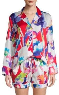 Natori Floral-Print Pajama Set