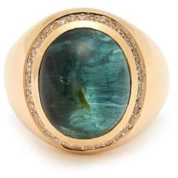 Jacquie Aiche Cats Eye Tourmaline Gold Ring - Womens - Green