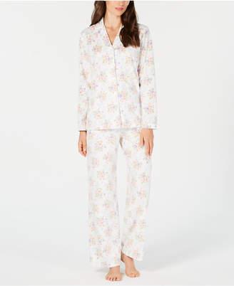 Charter Club Petite Printed Fleece Pajama Set, Created for Macy's