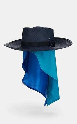 Lafayette House of Women's Reed Sink Straw Hat - Blue