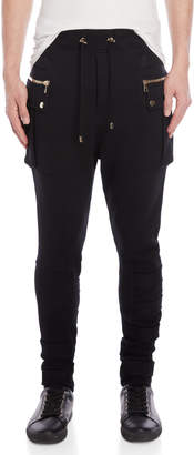 Balmain Strapped-Up Drawstring Pants