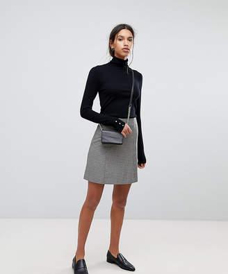 Selected Check Mini Skirt