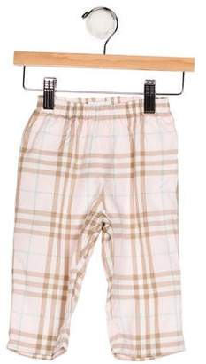 Burberry Girls' Plaid Knit Pants