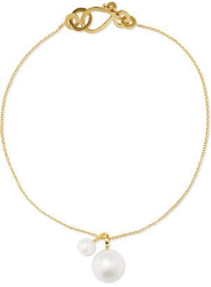 Sophie Bille Brahe Mia 14-karat Gold Pearl Bracelet