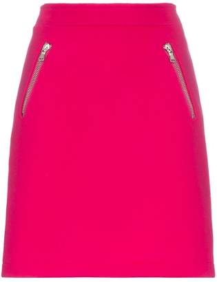 Moschino mid rise zip pocket skirt
