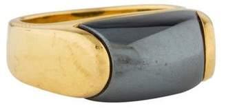 Bvlgari 18K Hematite Tronchetto Ring