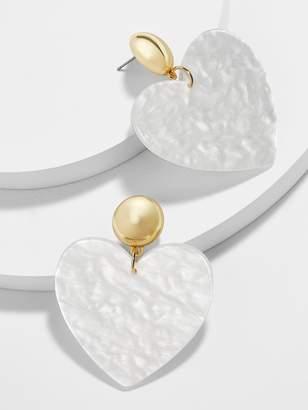 BaubleBar Andree Heart Drop Earrings