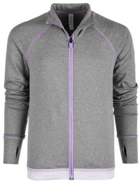 Ideology Big Girls Printed-Hem Zip-Up Jacket, Created for Macy's
