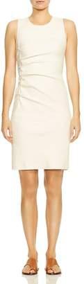 Halston Ruched Tweed Sheath Dress