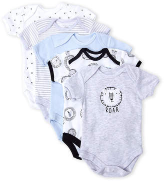 Rene Rofe Newborn Boys) 5-Pack Roar Bodysuits