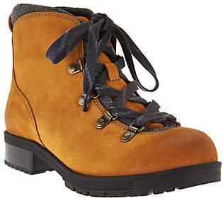 Clarks Leather Water Resistant Hiking Boots -Faralyn Alpha