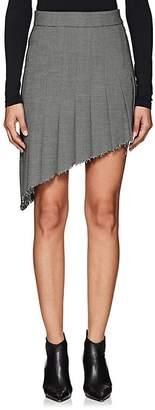 Helmut Lang Women's Asymmetric Wool-Blend Pleated Skirt