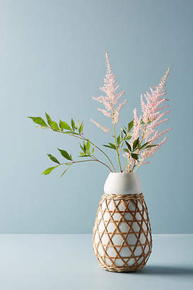 Anthropologie Woven Grass Vase