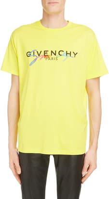 Givenchy Rainbow Logo Cotton T-Shirt