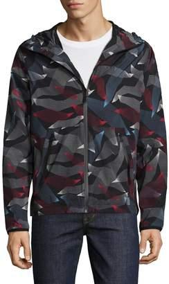 Perry Ellis 360 Men's Printed Hooded Jacket
