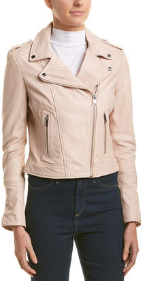 Lamarque Biker Leather Jacket
