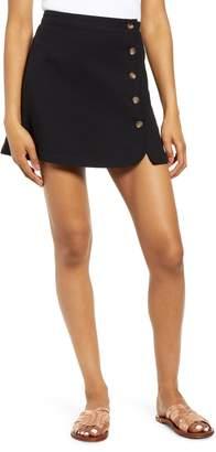 BP Button Wrap Miniskirt