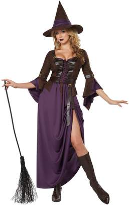 California Costumes Women's Salem Witch Sexy Long Dress with Adjustable Hem