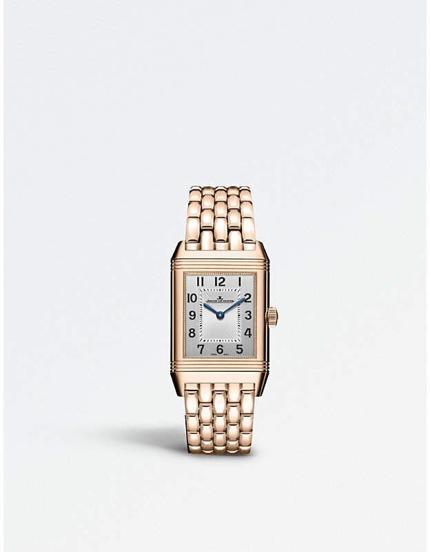 Jaeger Le Coultre Q2572120 Reverso 18ct rose-gold and diamond watch