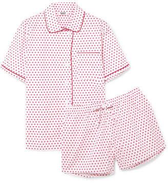Sleepy Jones - Corita Printed Cotton-poplin Pajama Set - Baby pink