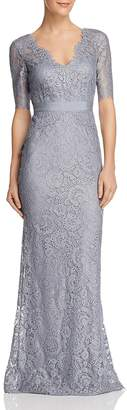 Adrianna Papell Floral Lace Gown