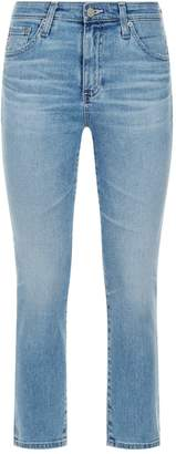 AG Jeans Phoebe High-Rise Slim Cropped Jeans