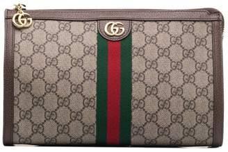 Gucci GG logo leather makeup bag