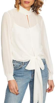 1 STATE 1.STATE Smock Neck Tie Waist Blouse