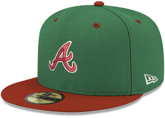 New Era Atlanta Braves Green Red 59FIFTY Fitted Cap