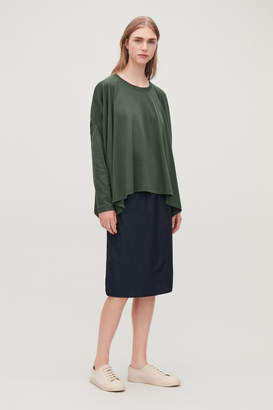 Cos BOXY COTTON JERSEY TOP